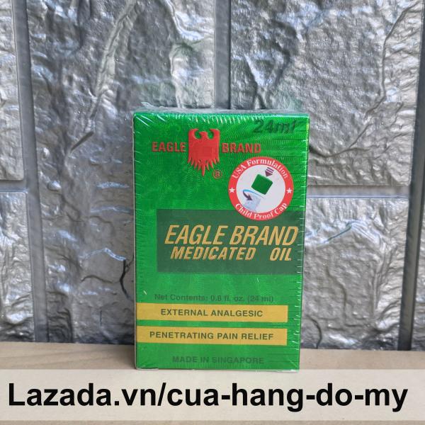 Dầu Gió Xanh Singapore Con Ó Eagle Brand 24ml