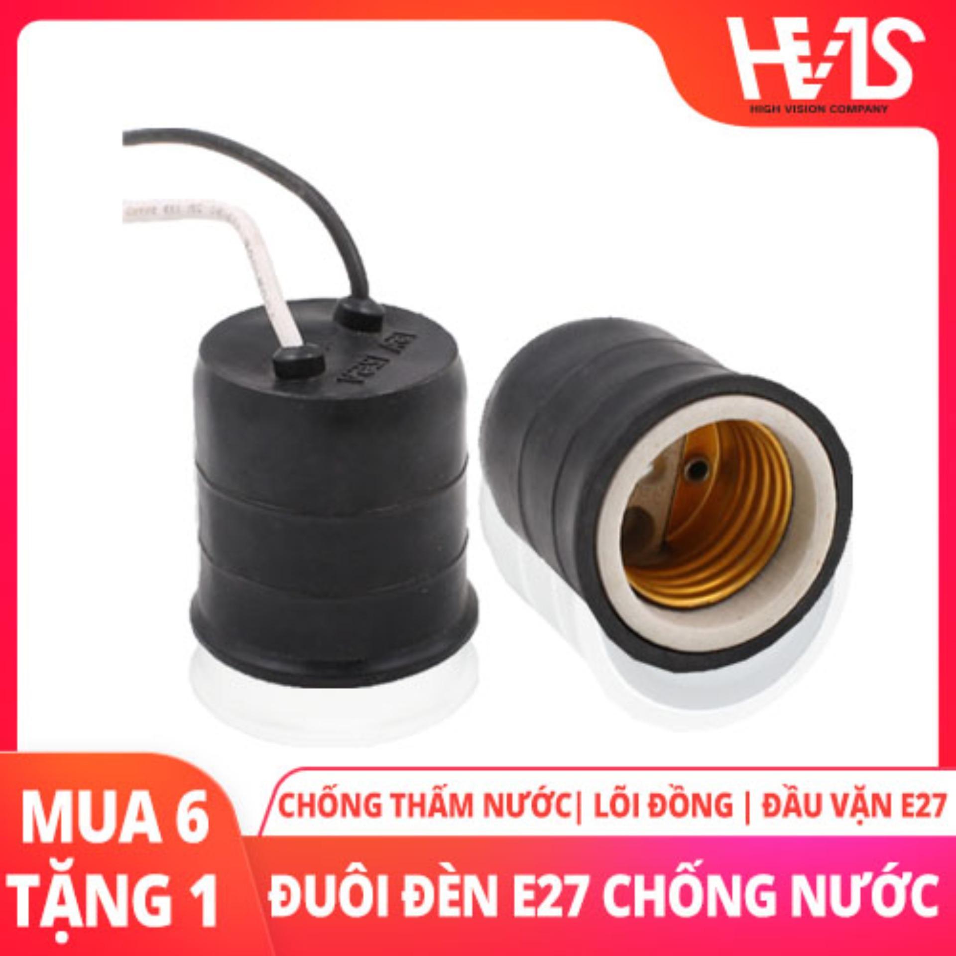 Combo 6 Đuôi Đèn Sứ chống cháy tăng cường tuổi thọ đèn E27 thông dụng