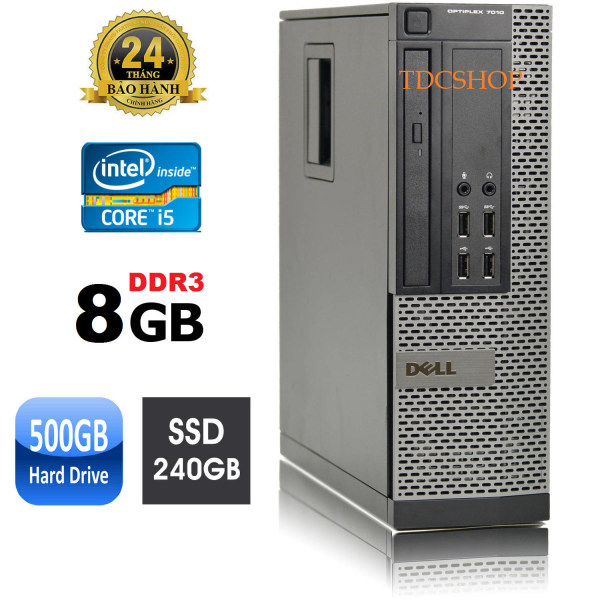 Bảng giá Case máy tính đồng bộ dell optiplex 7010 core i5 3470, ram 8gb, ổ cứng ssd 240gb, HDD 500GB. Hàng Nhập Khẩu Phong Vũ