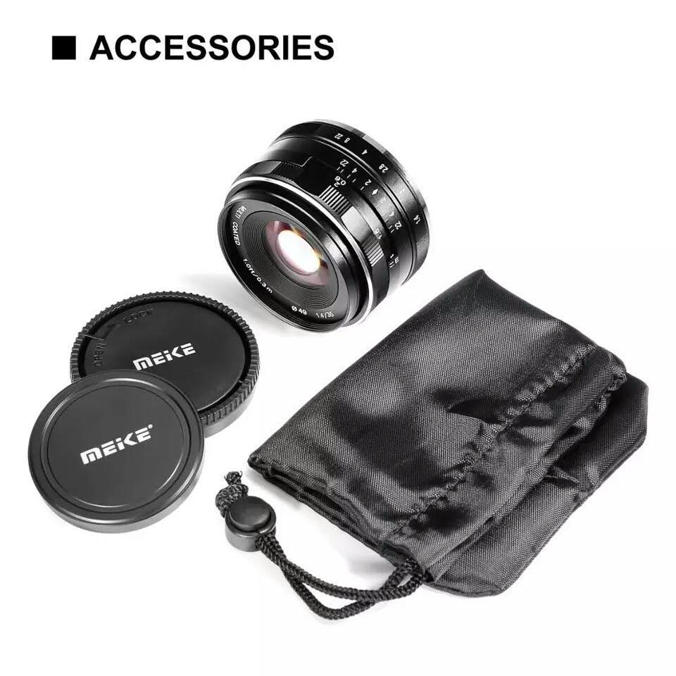 Giá Ống kính Meike 35mm F1.4 lấy nét thủ công cho máy ảnh mirroless Fuji, Sony, Canon