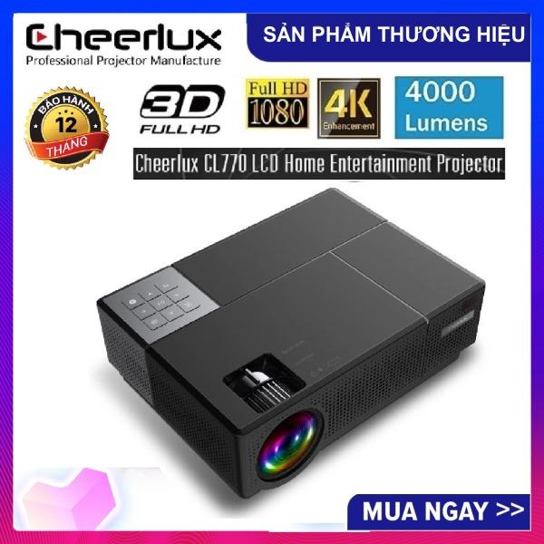 Bảng giá Máy chiếu FULL HD Cheerlux CL770 projector 1920x1080 , đèn Led 175W, 4000 Lumens sáng rỏ, chức năng Zoom, điều chỉnh vuông hình tự động, phù hợp xem phim tại gia, cafe bóng đá, phòng họp. Điện máy Pico