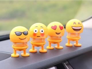 CMOBO 6 Thú Nhún Emoji con lắc lò xo con nhún 8