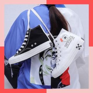 Giày Nữ cao cổ 2 màu Đen trắng siêu đẹp thumbnail