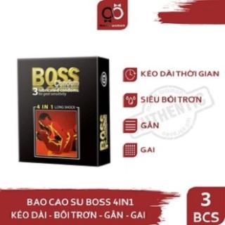 [HCM]Bao cao su Boss 4in1 gân gai li ti kéo dài thời gian quan hệ thumbnail