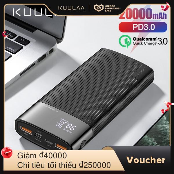 Giá KUULAA Power Bank 20000mAh USB Type C PD Sạc nhanh + Sạc nhanh 3.0 PowerBank 20000 mAh cho iPhone Xiaomi