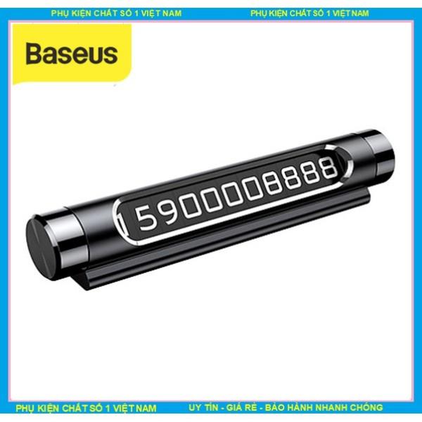 Bảng Số Ghi Số Điện Thoại trên Taplo ô tô Chính hãng Baseus ACNUM-01 ,Thép đúc nguyên khôi , bảo hành 24 tháng đổi mới