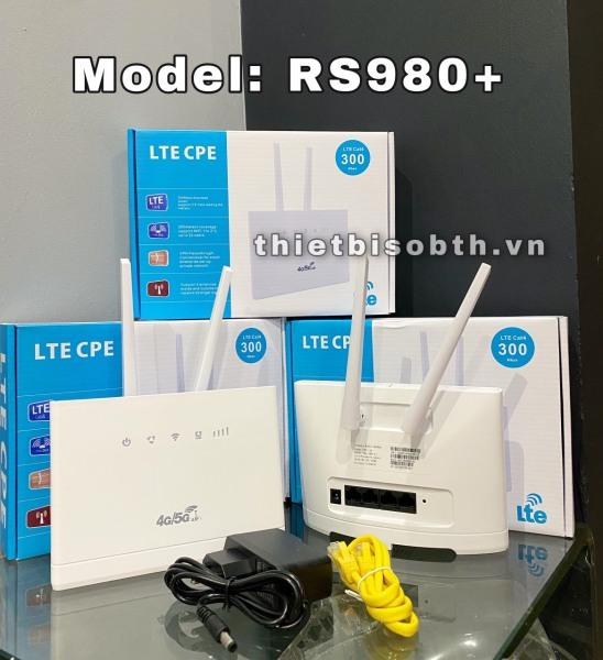 Bảng giá Bộ Phát Wifi 3G 4G CPE RS980 Tốc độ 150Mbps. Kết nối 32 user -Hỗ Trợ 4 Cổng LAN Phong Vũ