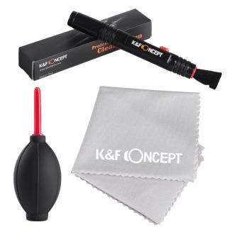 K&F CONCEPT 3 in 1 Camera Cleaning Kits Lens Brushes+Cleaning Pen+Cleaning Cloth for Camera Lenses & Filters Sensor Screen LCD thumbnail