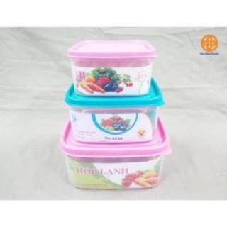 Hộp nhựa lạnh Việt Nhật - Đồ dùng nhà bếp tiện lợi Combo 3 hộp, cam kết hàng đúng mô tả, chất lượng đảm bảo an toàn đến sức khỏe người sử dụng thumbnail