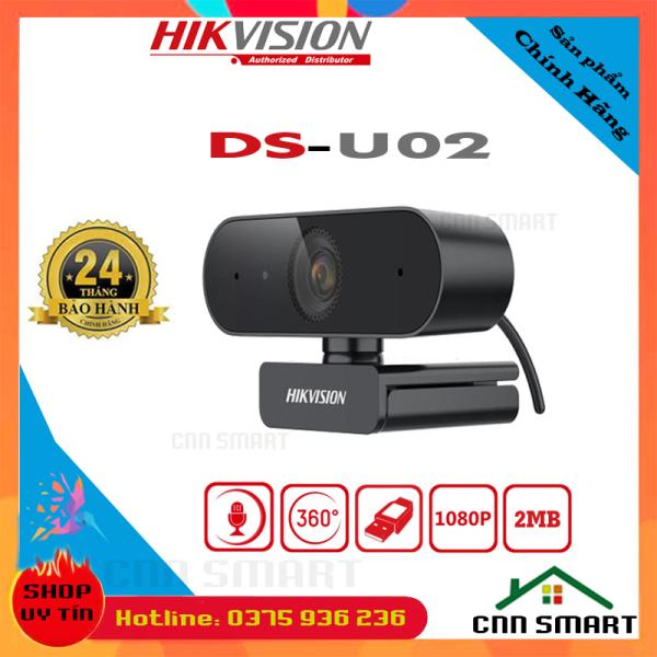 Bảng giá [ Chính hãng ] Webcam Máy Tính HIKVISION DS-U02 FullHD độ phân giải 1920x1080 WC tích hợp mic chuyên dụng cho Livestream, Học và làm Online Phong Vũ