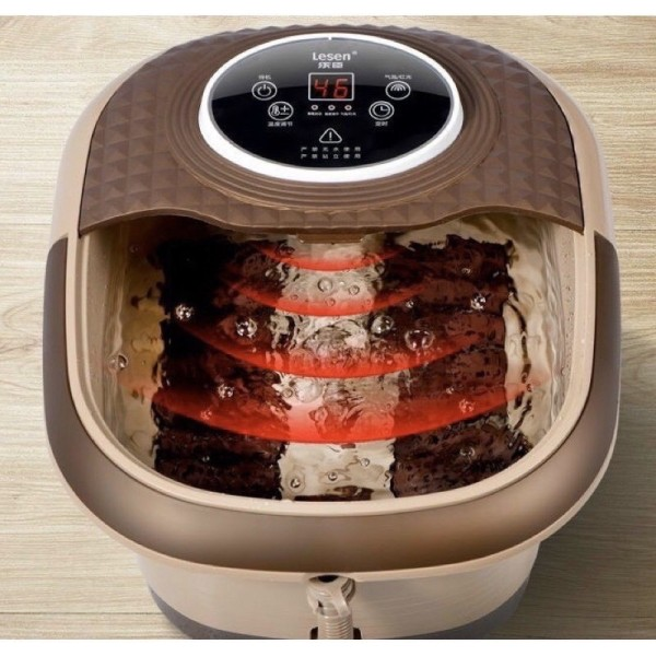 Bồn massage ngâm chân tự động hãng Lesen nổi tiếng có điều khiển.