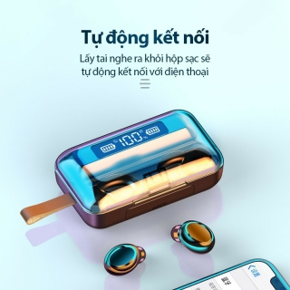 Tai Nghe Bluetooth Nhét Tai Pin Trâu 3500 maH Micro HD, Chống Nước - Tai Nghe Bluetooth 5.0 - Tai nghe bluetooth pin trâu - Tai nghe nhét tai không dây bluetooth, Tai nghe bluetooth không dây pin trâu 3