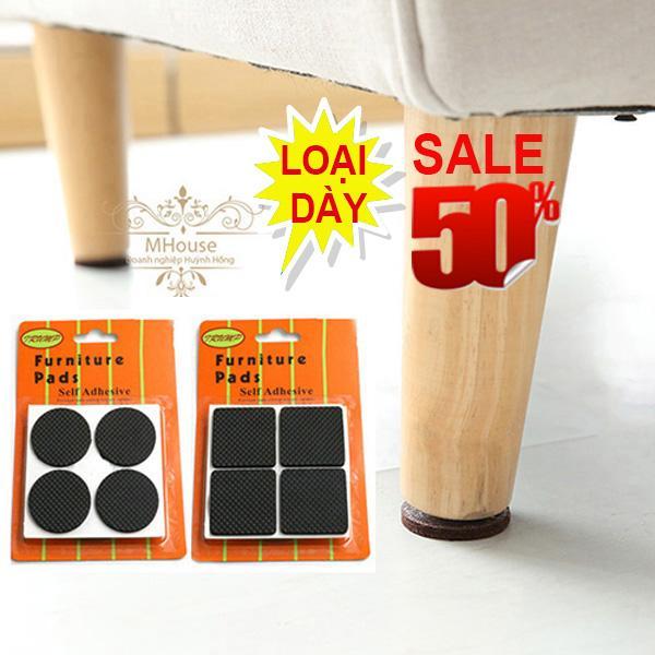 Combo 8 cao su lót chân vật dụng chống trầy xước, giảm tiếng ồn