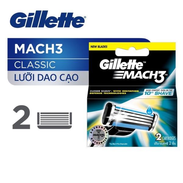 Lưỡi dao cạo râu Gillette Mach 3 Classic bộ 2 cái