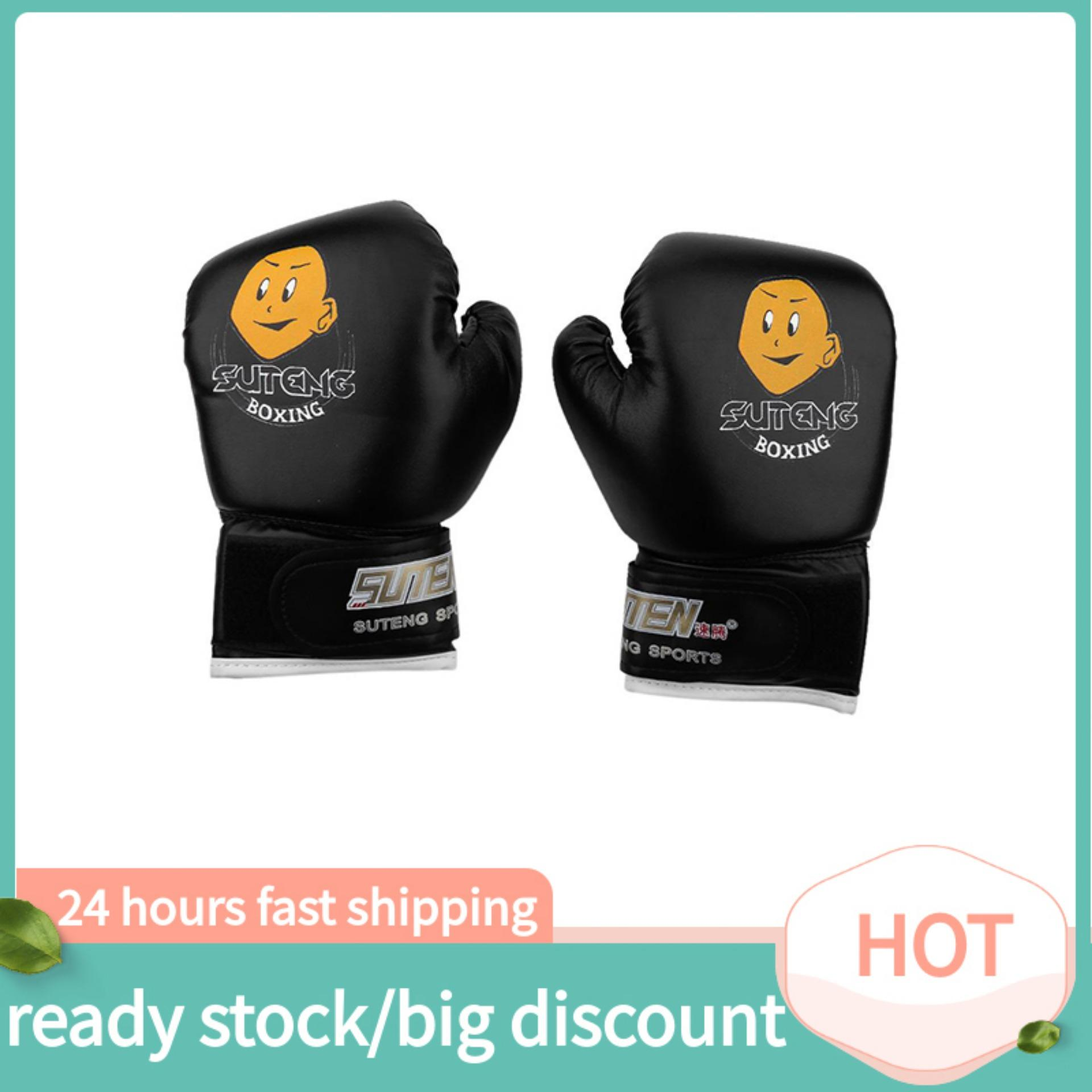 joliannh【biggest discount+lowest price】3Colors Child Boxing Fighting Muay Thai Sparring Punching Kickboxing Grappling Sandbag Gloves