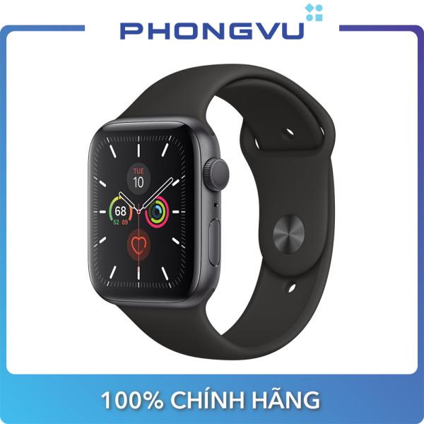 Đồng hồ thông minh/Apple Watch Series 5 GPS, 40mm Space Grey Aluminium Case with Black Sport Band - Bảo hành 12 tháng