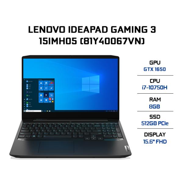 Bảng giá Laptop Lenovo IdeaPad Gaming 3 15IMH05 81Y40067VN i7-10750H | 8GB | 512GB | VGA GTX 1650 4GB | 15.6 FHD | Win 10 Phong Vũ