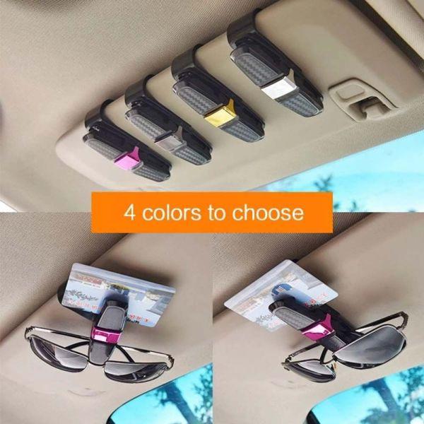 NXUGW Phụ kiện nội thất ô tô Kẹp kính râm Dây buộc Kẹp vé Kẹp kính đeo mắt Kẹp biên nhận Chủ thẻ Hộp kính che nắng Kẹp kính râm