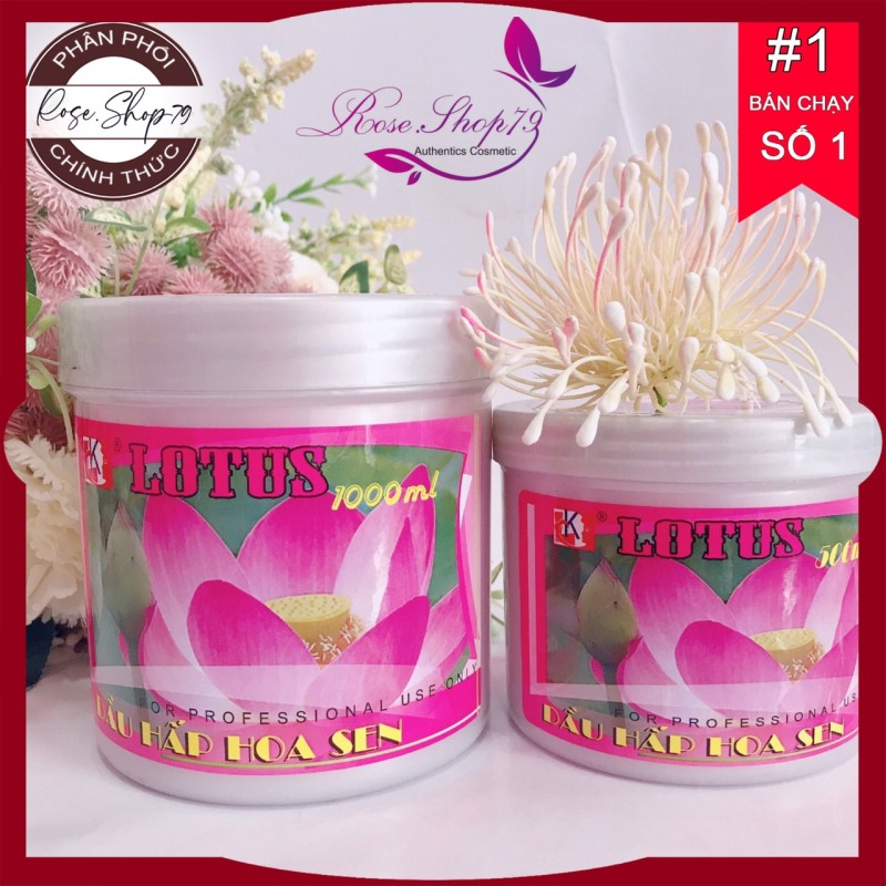 Hấp ủ Hoa Sen ⚜️FREESHIP⚜️ Hấp dầu hoa sen Lotus 500gr