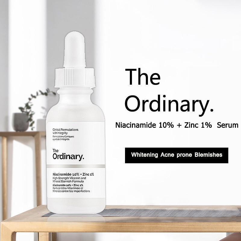 The Ordinary Niacinamide nguyên chất 10% + Kẽm 1% Tinh chất dưỡng trắng da chống thâm nám 30ML Serum dầu mặt Cân bằng làm giảm vết thâm cho da Kem dưỡng ẩm làm trắng da