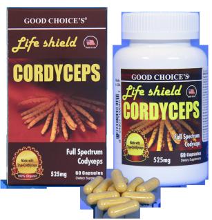 Đông trùng hạ thảo LIFE SHIELD CORDYCEPS của Mỹ 60 viên hỗ trợ bổ phổi, tăng cường sinh lý nam nữ, tăng cường miễn dịch, tăng cường sức khỏe - TBYT Quang Hà thumbnail