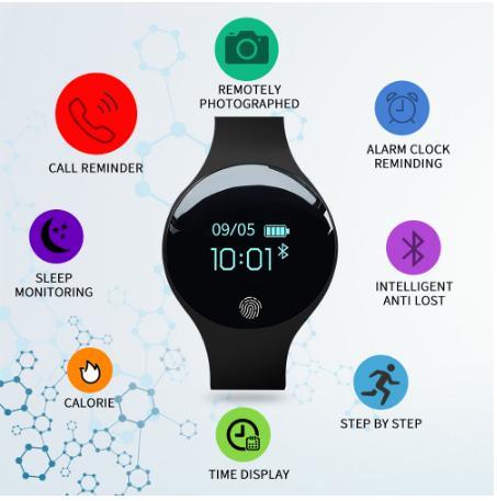 Nơi bán Đồng Hồ Thông Minh SANDA Smart Watch SD01 Mới Nhất 2019 Theo Dõi Sức Khoẻ Đa Chức Năng kết nối thông báo với điện thoại - Đồng hồ thông minh giá rẻ