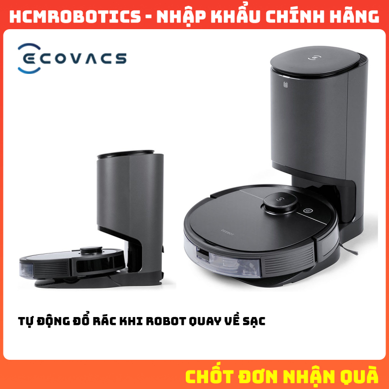 Robot hút bụi Ecovacs Deebot T8 AIVI Plus 2021 [ BẢO TRÌ 5 NĂM ]