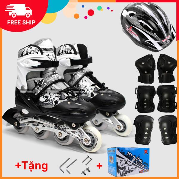 Giá bán Bộ Giày Patin Longfeng 3 in 1 màu đen (Size L )