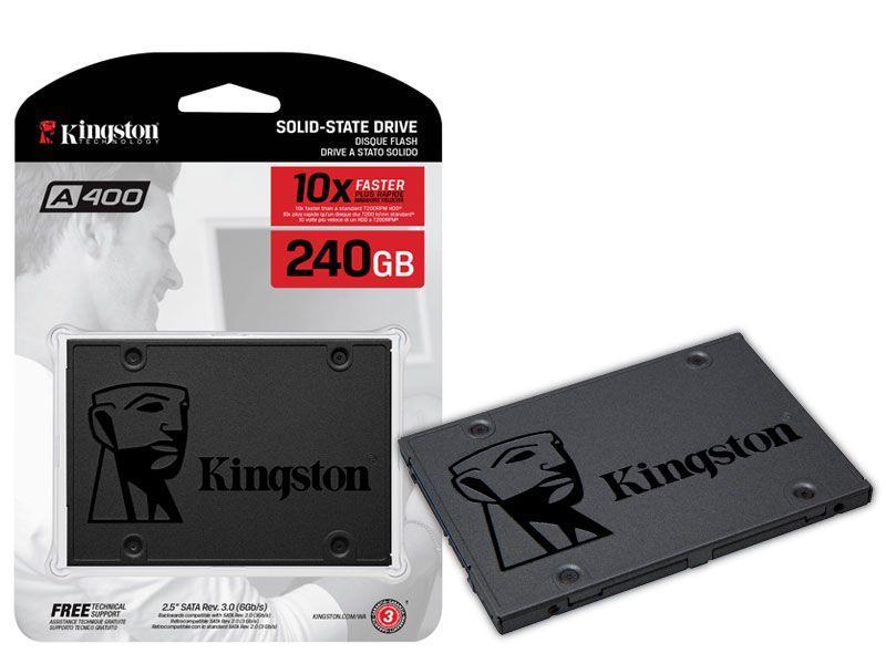 """Ổ cứng SSD kingston A400 240GB 2.5"""" SATA III tem vĩnh xuân/Viết sơn"""