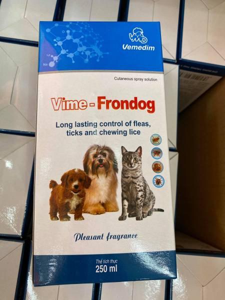 Vime- FRONDOG thuốc xịt trị ve, bọ chét ở Chó Mèo