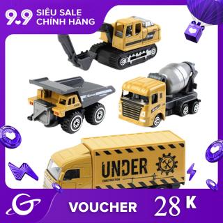 04 Mô hình xe tải và máy xúc kỹ thuật loại nhỏ tỷ lệ 1 64 chất liệu nhựa dùng làm quà tặng cho trẻ em Dece Flor - INTL thumbnail