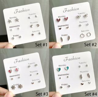 Set Khuyên Tai 6 Món - Khuyên Tai Nữ Hot Nhất B2311 Bảo Ngọc Jewelry 2