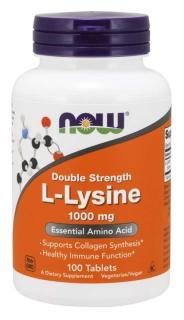 TP Bảo Vệ Sức Khỏe Hỗ Trợ Phòng Ngừa Mụn Ngoài Da, Mụn Do Nội Tiết Tố NOW L-Lysine - Double Strength 1000 mg (100 Viên nén) thumbnail