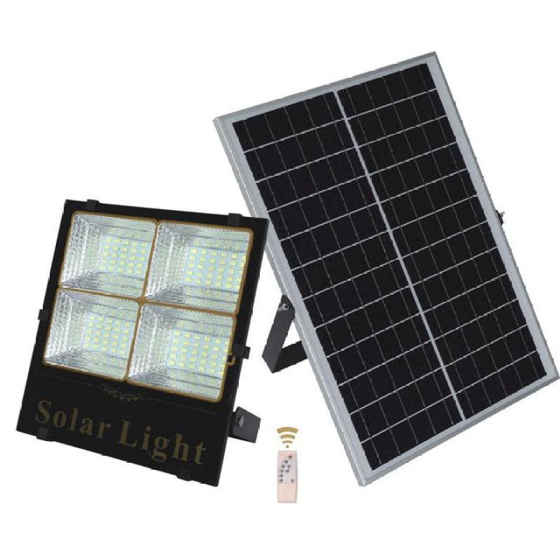 Đèn năng lượng mặt trời 200W chống nước kèm tấm pin điều khiển từ xa