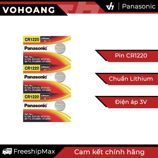 Bảng giá 3 Pin Panasonic CR1220 dùng cho điện thoại, remote, đồng hồ, nhiệt kế, v.v…
