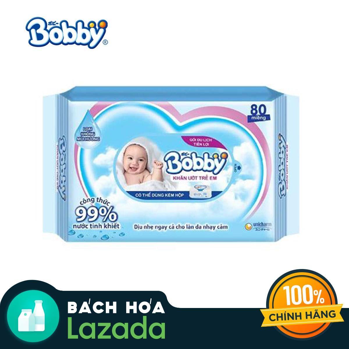 Khăn ướt trẻ em Bobby Care gói bổ sung 80...