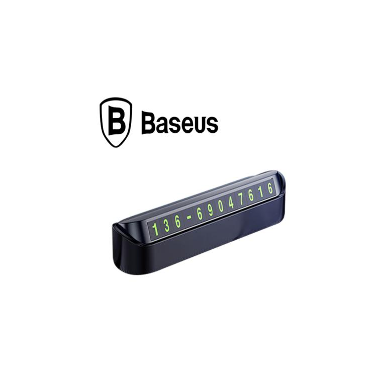 Bảng số điện thoại trên ô tô, xe hơi nhãn hiệu Baseus ACNUM-DD01 ( Màu đen)