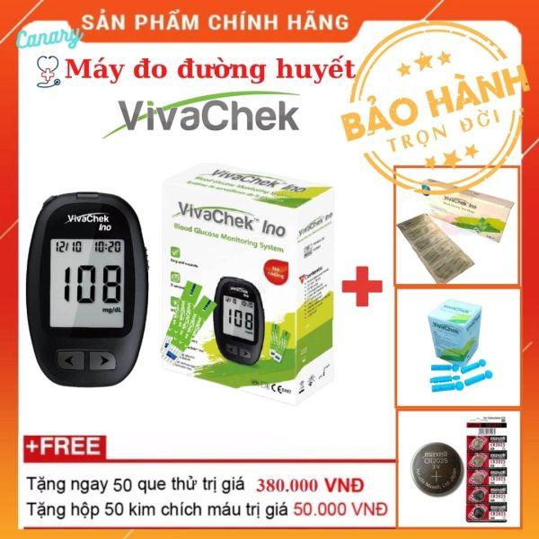 [Bảo hành trọn đời ] Máy đo đường huyết, máy đo tiểu đường VivaChek Ino cao cấp 2021 (Model mới) [[Tặng kèm 50 kim+ 50 que thử đường huyết]] bán chạy