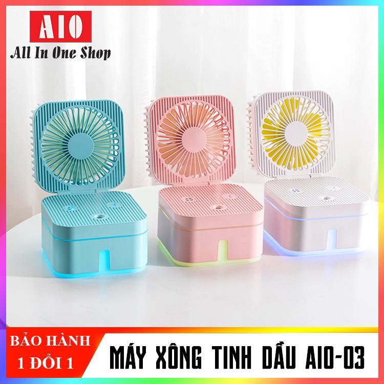 Quạt phun sương tinh dầu mini để bàn Cổng USB (Nhiều màu); kết hợp quạt mini và phun sương tinh đầu điều hòa không khí trong phòng; Thiết kế nhỏ, gọn, tiện lượi All In One Shop