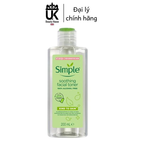 Nước hoa hồng soothing facial toner simple cân bằng ẩm cho da 200ml cao cấp