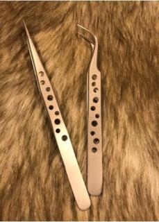 cặp đôi nhíp cong thẳng lỗ nối mi ( 1 nhíp cong + 1 nhíp thẳng ) thumbnail