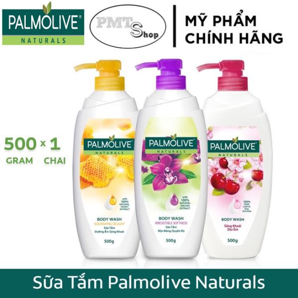 Sữa tắm Palmolive Naturals chiết xuất 100% thiên nhiên 500g Mật ong, Phong lan, Anh đào và sữa dưỡng ẩm