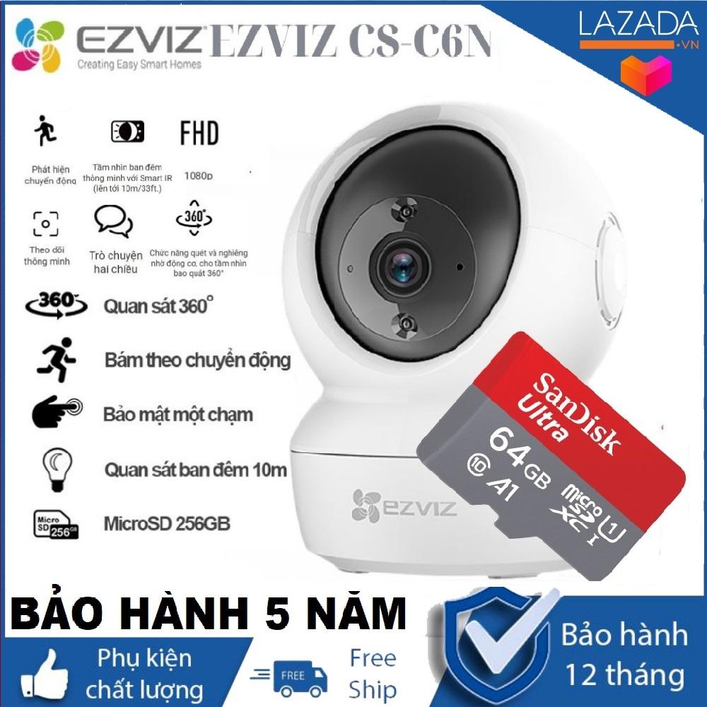 BẢO HÀNH 5 NĂM-TÙY CHỌN KÈM THẺ NHỚ CHUẨN 64GB YOOSEE Camera IP Wifi Ezviz CV246 C6N 2MP 1080P cảm biến 1/2.7 2MP độ Phân giải Full HD 1920 × 1080 bảo hành 24 tháng (tùy chọn thẻ nhớ)