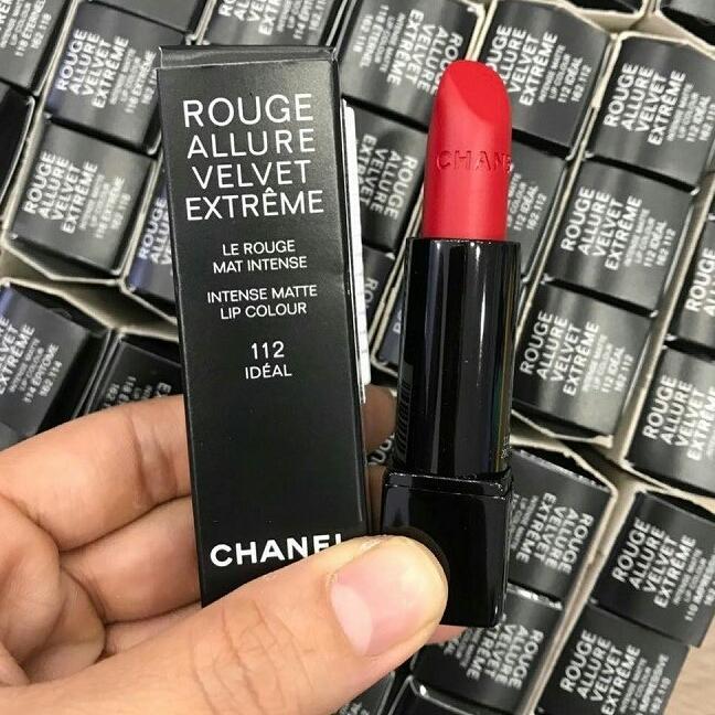 Son Chanel Rouge allure velvet extreme112 Idéal Màu Đỏ Tươi  2018 tốt nhất