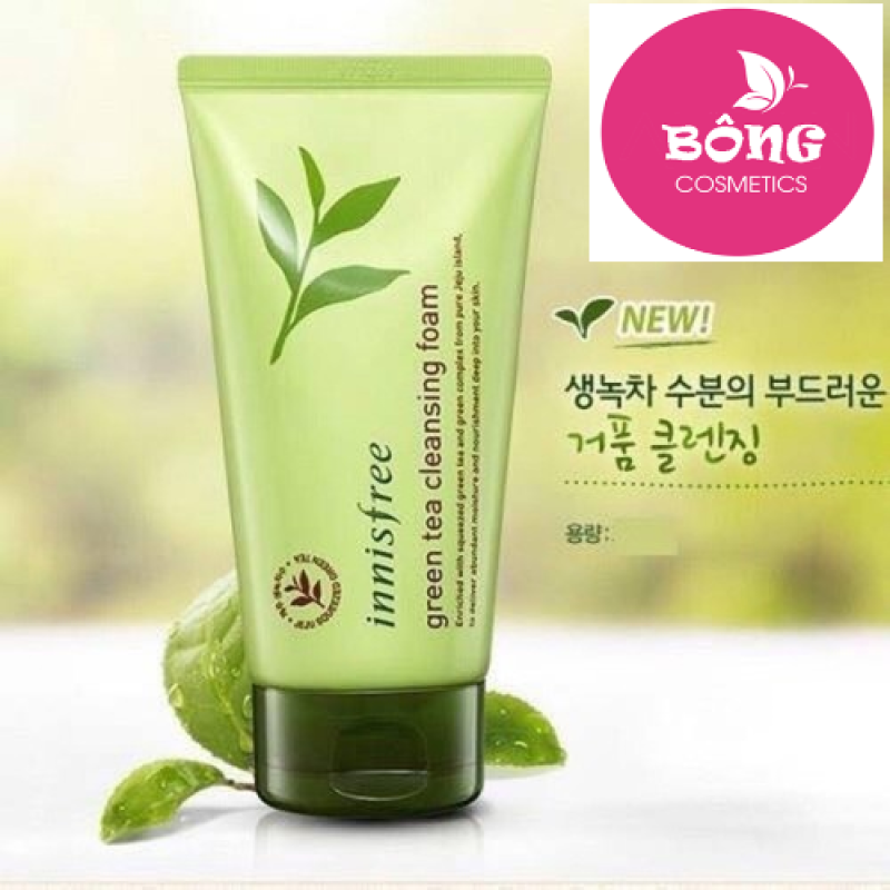 [ CHÍNH HÃNG ] Sữa rửa mặt chiết xuất trà xanh Innisfree Hàn Quốc (150ml)