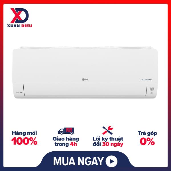 Máy lạnh LG Inverter 1 HP V10APH1  Công nghệ Dual Cool Inverter tiết kiệm điện, Chức năng tự làm sạch, Chế độ làm lạnh nhanh Powerful - giao hàng miễn phí HCM