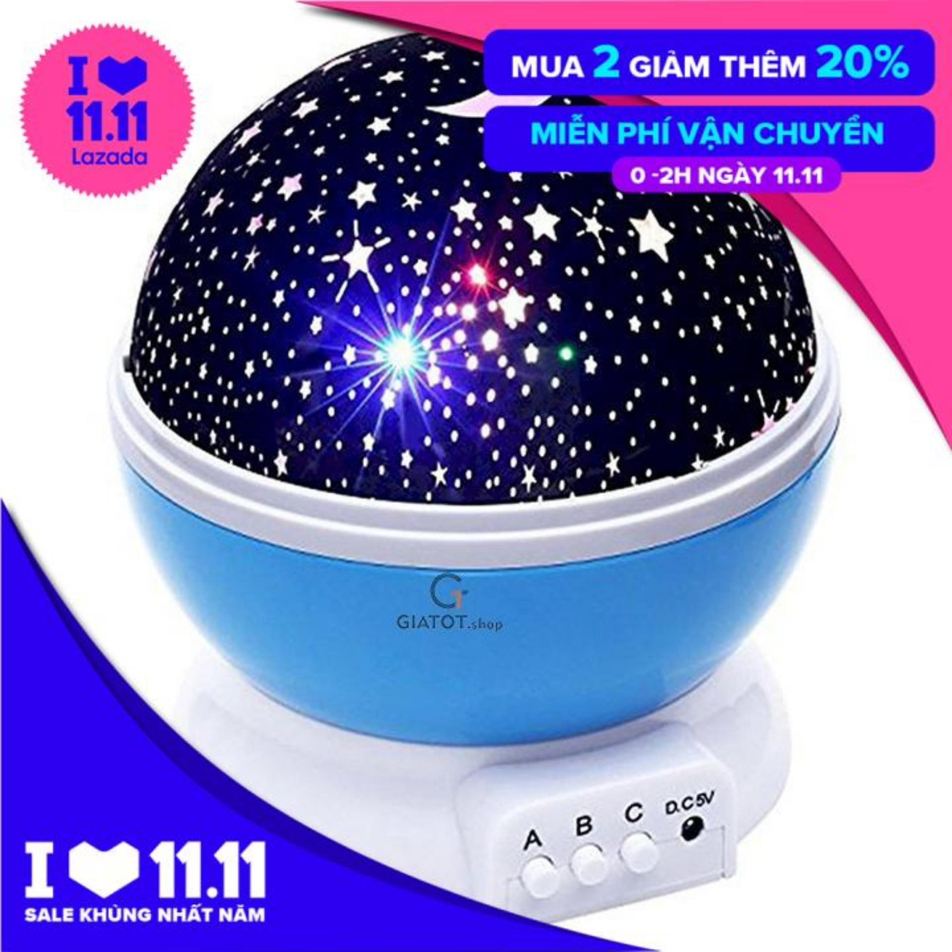 Mã Khuyến Mại Đèn Chiếu Sao đèn Trang Trí đèn Ngủ Tự Xoay 360 Star Master Pro