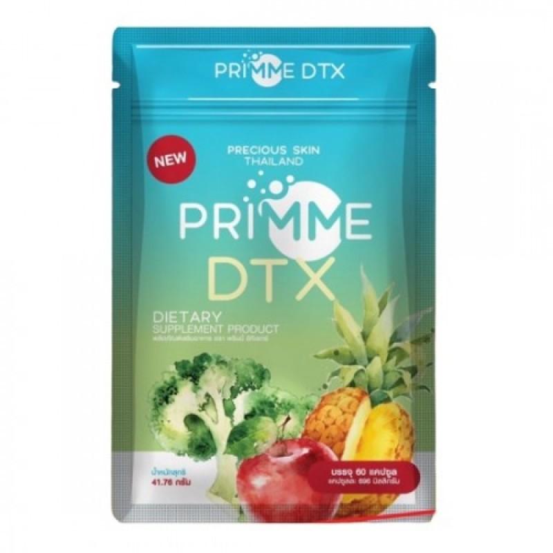 [SALE] Viên uống Detox khử mỡ giảm cân thải độc Primme DTX chiếc xuất từ rau củ Thái Lan giá rẻ