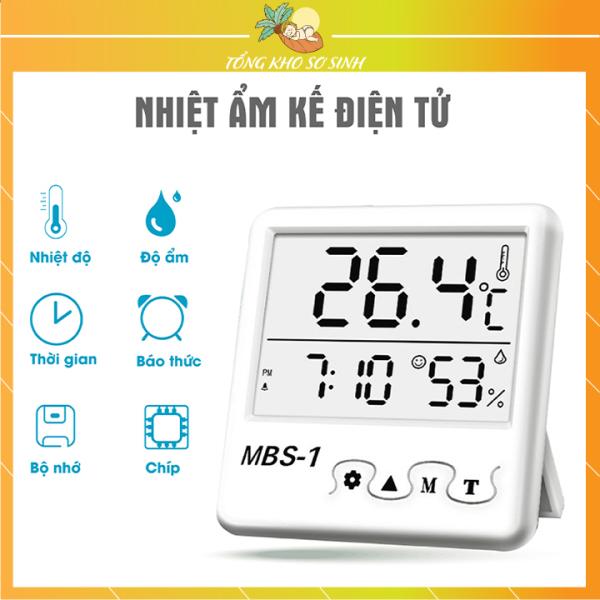 Nơi bán Nhiệt ẩm kế điện tử nhiệt kế phòng cao cấp 4 trong 1 đo nhiệt độ độ ẩm chính xác cao (tặng kèm pin)