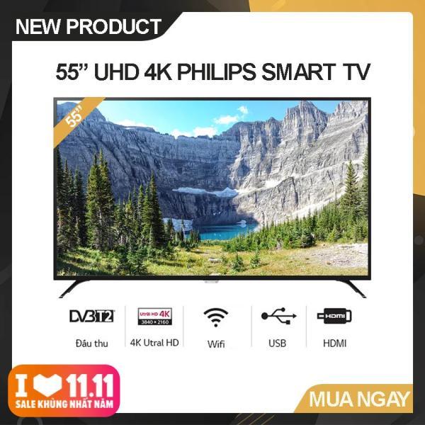 Bảng giá Smart Tivi Led Philips 55 inch Ultra HD 4K - Model 55PUT6023S/74 (Đen) Công nghệ hình ảnh Pixel Plus Ultra HD, Tích Hợp DVB-T2 Wifi - Bảo Hành 2 Năm